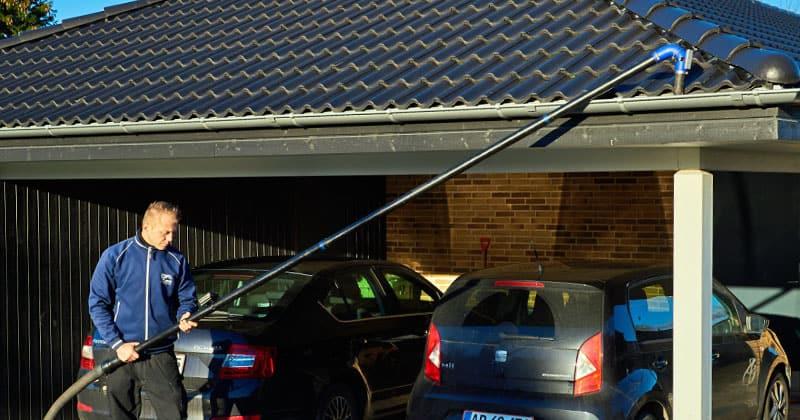 Tagrenderensning carport